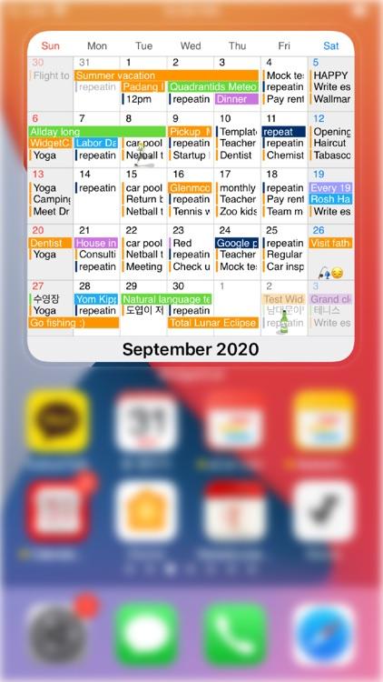 WidgetCal-Calendar Widget screenshot-0