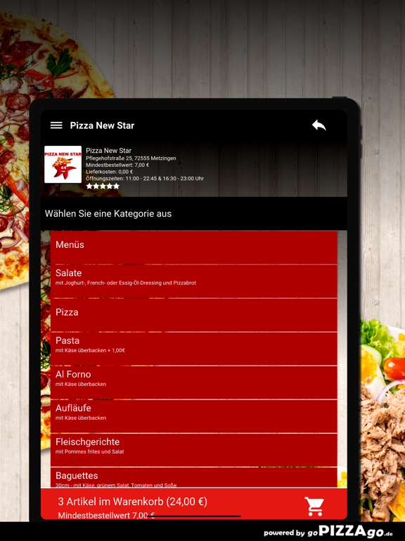 Pizza New Star Metzingen screenshot 8