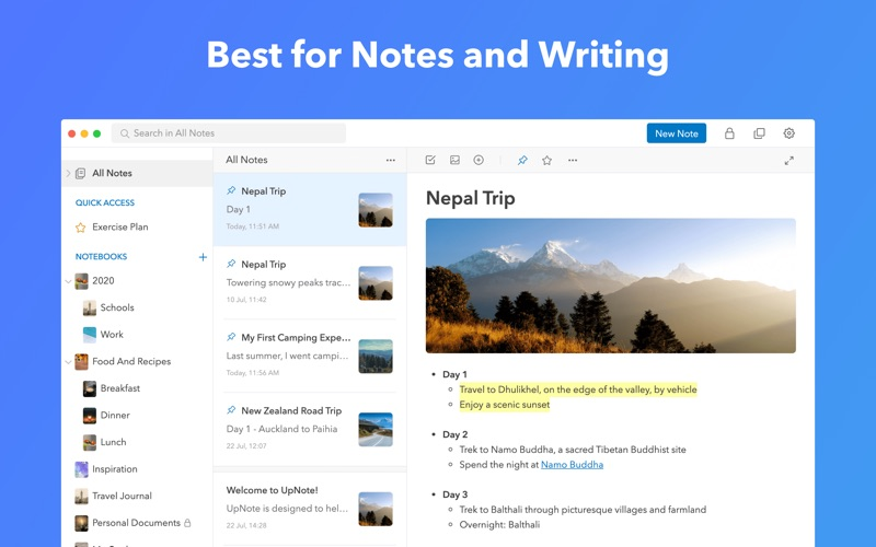 Update: UpNote: notes, diary, journal  (Productivity)