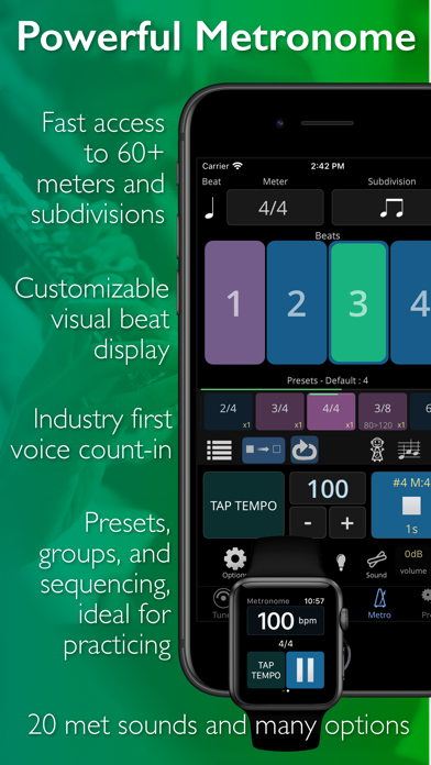 TonalEnergy Tuner & Metronome Screenshot