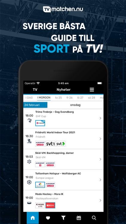 TVmatchen.nu - Sport på TV screenshot-3