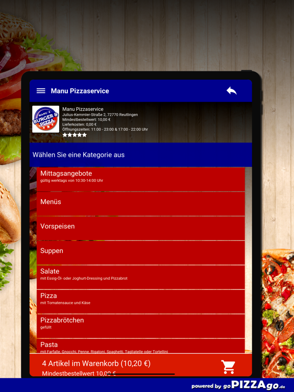 Manu Pizza Reutlingen screenshot 8