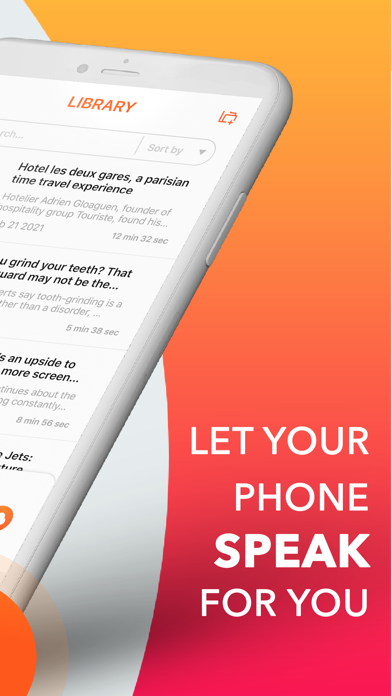 Text To Speech : Audio Books Screenshot