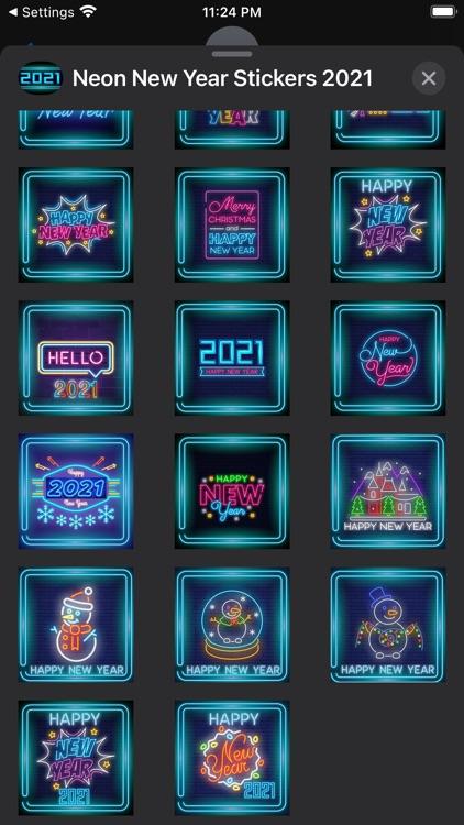 Neon New Year Stickers 2021 screenshot-3