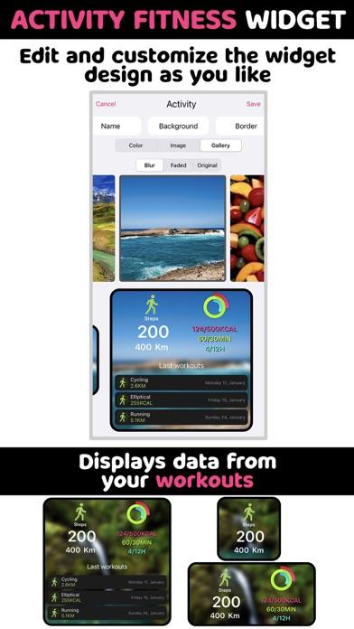 Activity Fitness Widgets screenshot 2