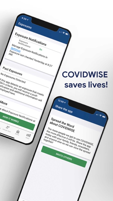 messages.download COVIDWISE software