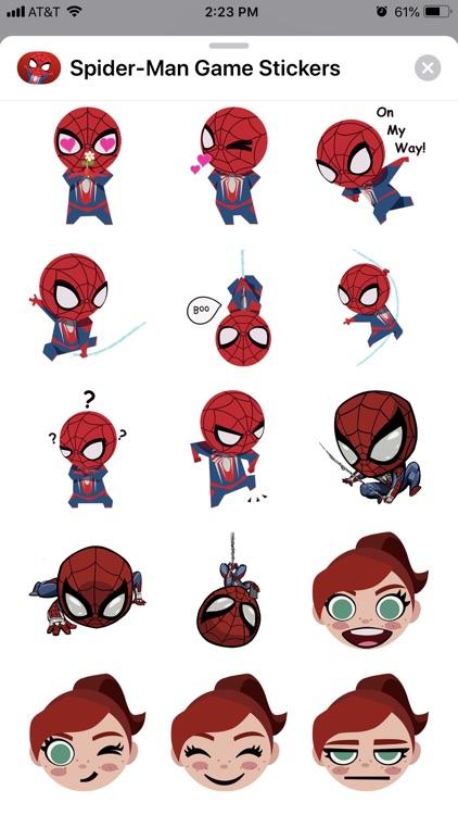 Spider-Man Game Stickers screenshot-5