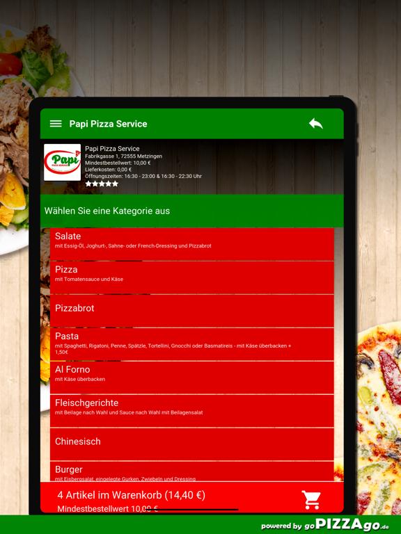 Papi Pizza Service Metzingen screenshot 8
