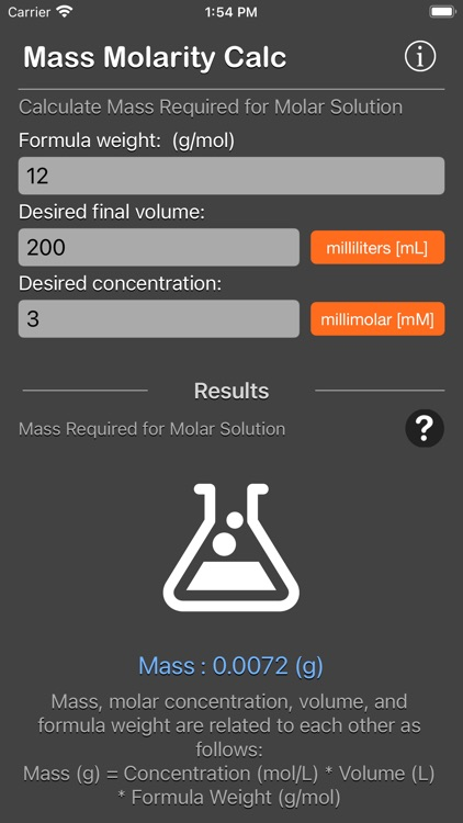 Mass Molarity Calculator screenshot-9