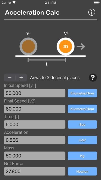 Acceleration Calculator Plus screenshot-9
