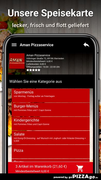 Aman Pizzaservice Illerrieden screenshot 4