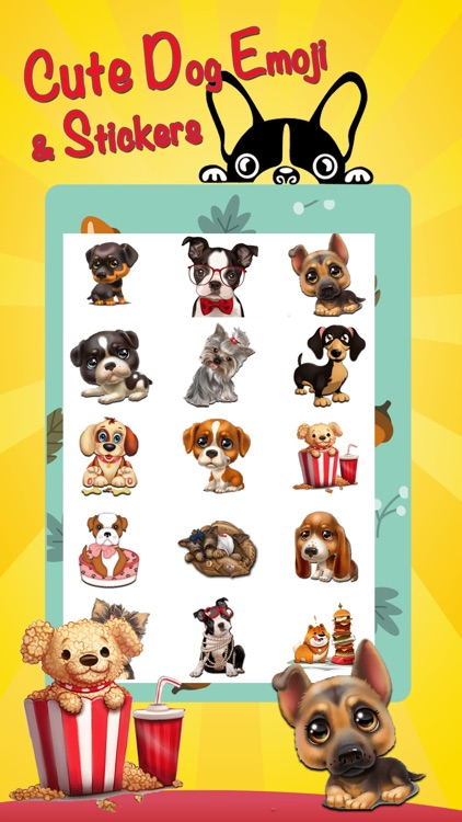 Cute Dog Stickers Emoji