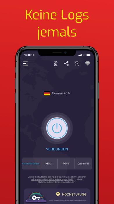 VPN Super Sicher UnbegrenztScreenshot von 1