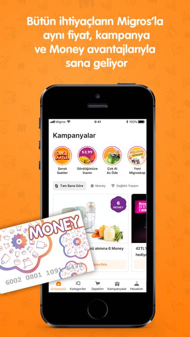 Migros Sanal Market iphone ekran görüntüleri
