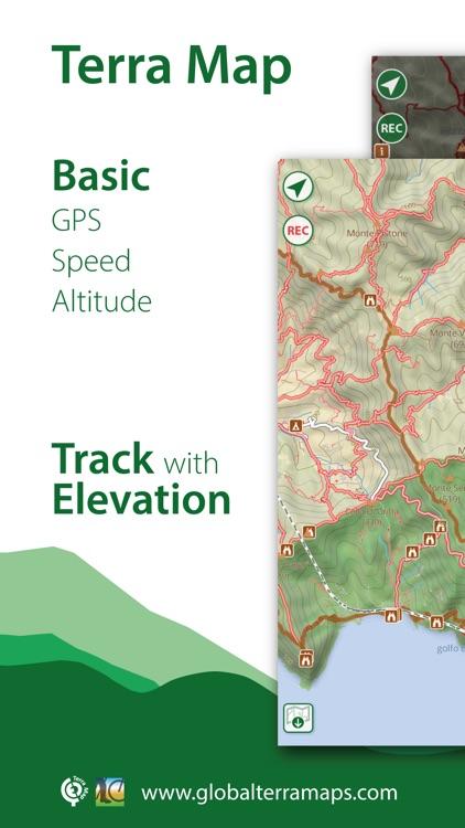 Terra Map: GPS Hiking maps screenshot-0