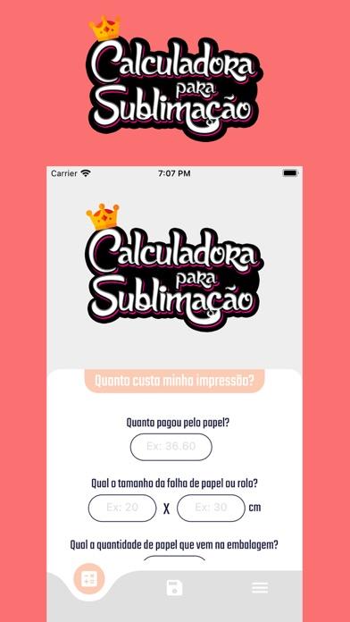 Calculadora para sublimação Screenshot
