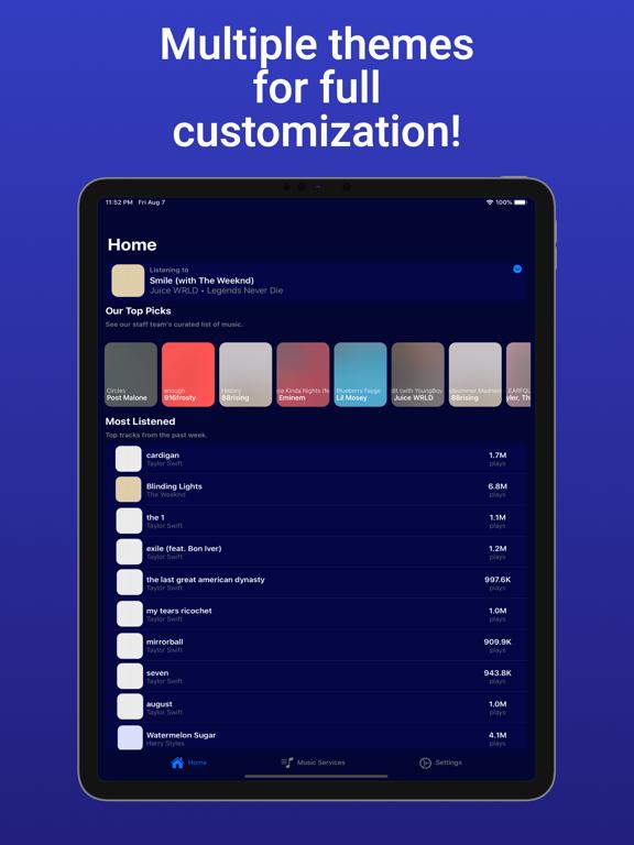 TuneTrack iPad app afbeelding 5