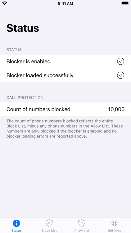 Simple Call Blocker