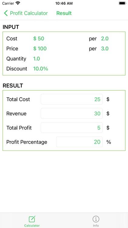 Profit Calculator, Revenue