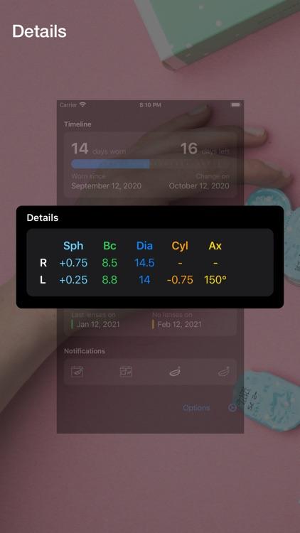 Lensy - Contact Lens Tracker screenshot-3