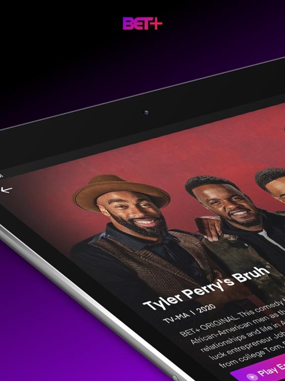 iPad Image of BET+