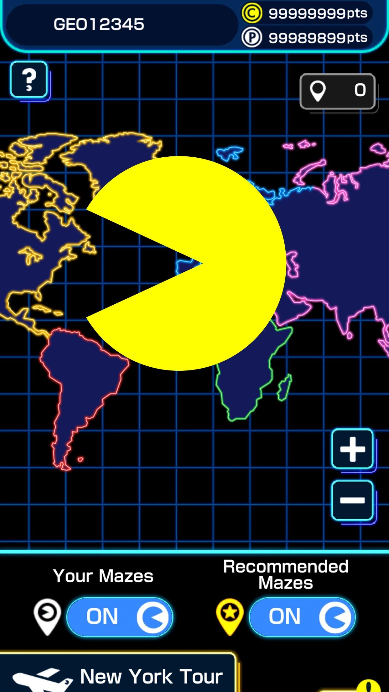 Screenshot do app PAC-MAN GEO