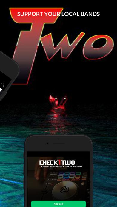 Screenshot of Check1Two Music App