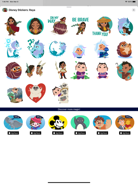 Disney Stickers: Raya screenshot 6