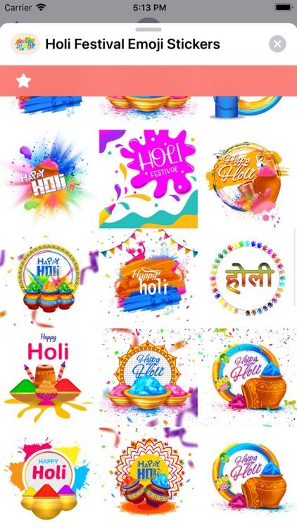 Holi Festival Emoji Stickers screenshot-4