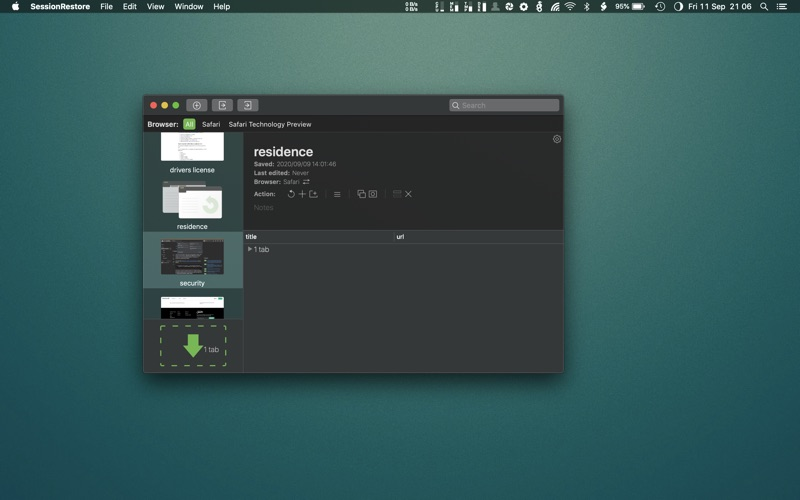 SessionRestore for Safari screenshot 7