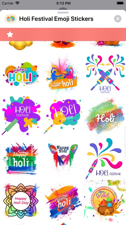 Holi Festival Emoji Stickers screenshot-5