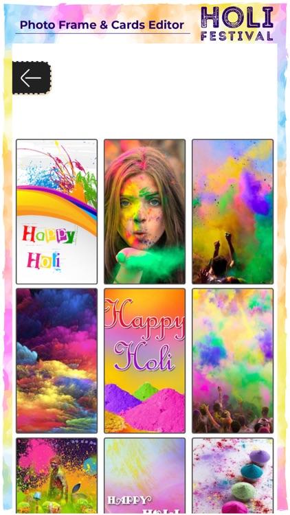 Holi Photo Frame & Card Editor screenshot-4