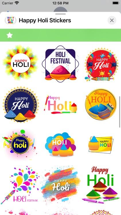 Happy Holi Stickers ! screenshot-3