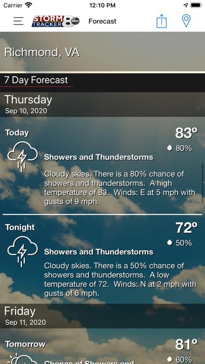 WRIC StormTracker 8 Weather screenshot-3