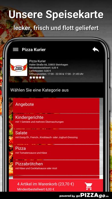 Pizza Kurier Steinhagen Essen screenshot 4