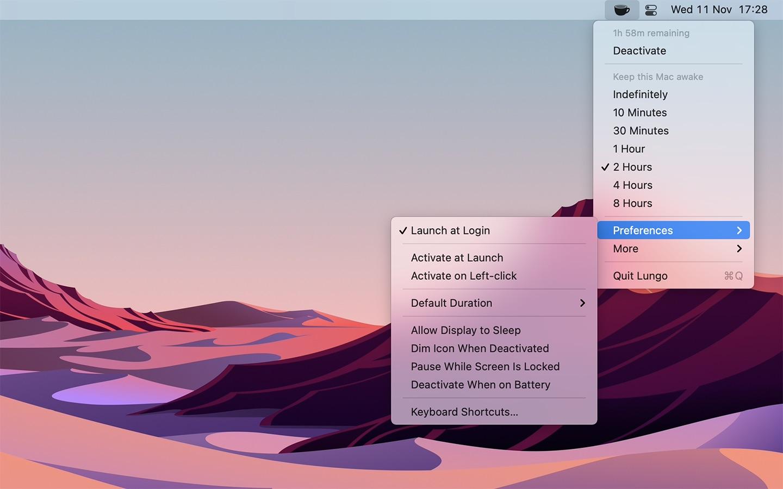 Screenshot do app Lungo