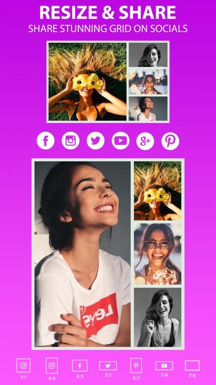 Photo Collage Maker • Pic Grid screenshot-4