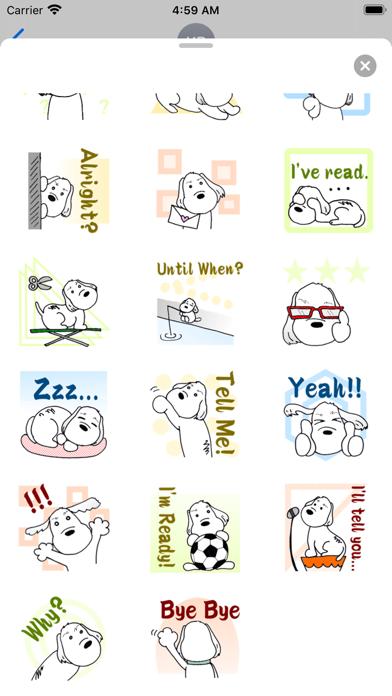 Cute PBGV Dog Petit Sticker screenshot 4