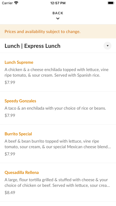 Juan's Mexican Cafe & CantinaScreenshot of 3