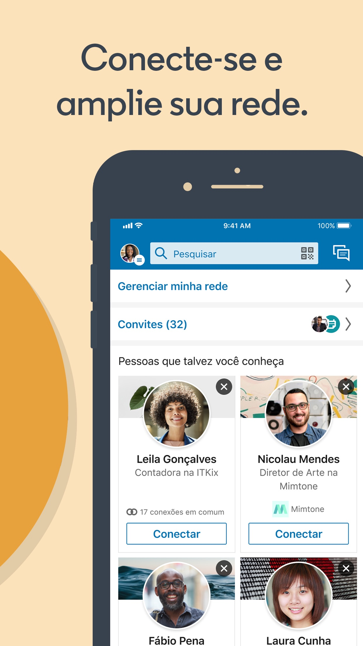 Screenshot do app LinkedIn
