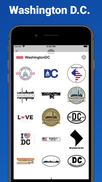 Washington D.C. - USA stickers screenshot 1