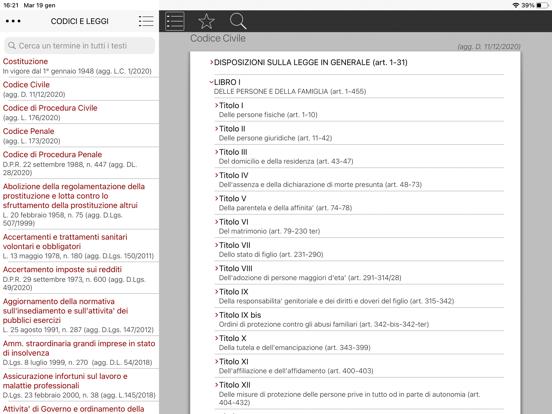 Codici Civile e Penale Screenshots