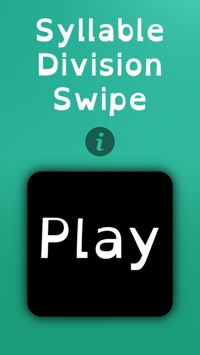 Syllable Division Swipe screenshot 1