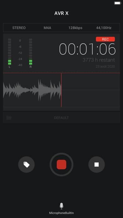 Screenshot #1 pour AVR X PRO - Enregistreur vocal