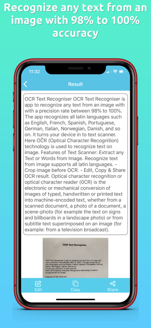 ‎OCR Text Recogniser Screenshot
