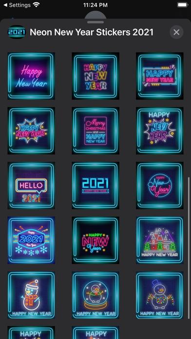 Neon New Year Stickers 2021 screenshot 3
