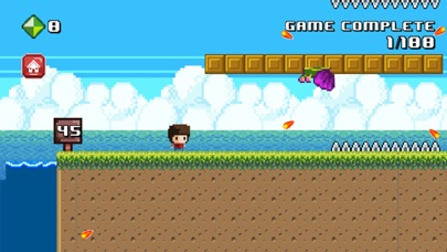 Screenshot of 8 Bit Kid - Jumping World App