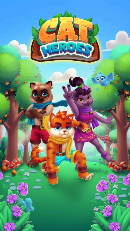 Cat Heroes - Match Puzzle Game screenshot-6