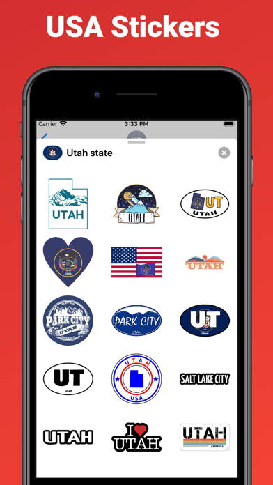 Utah state - USA stickers screenshot 2