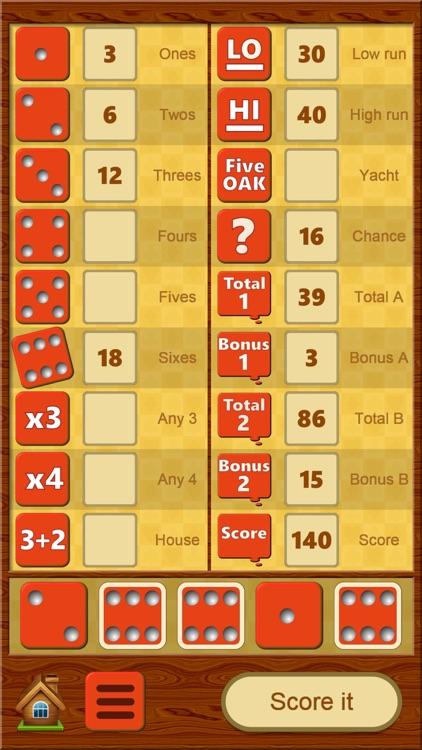 FiveOAK, yatzy dice game screenshot-0